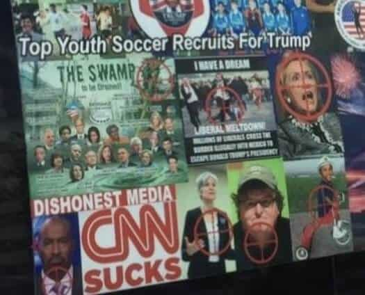 Cesar Sayoc's disturbing stickers on his van.